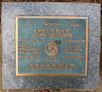 7th Combat Cargo Squadron Memorial image. Click for full size.