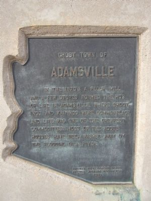 Ghost town of Adamsville Marker image. Click for full size.