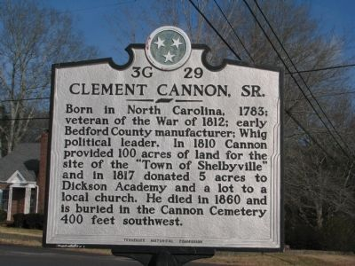 Clement Cannon, Sr. Marker image. Click for full size.