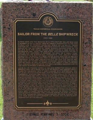 Sailor from the Belle Shipwreck Marker image. Click for full size.