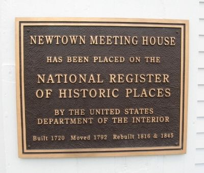 Newtown Meeting House Marker image. Click for full size.