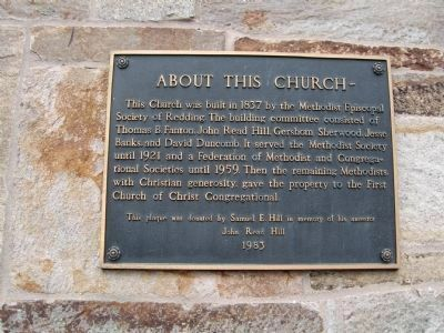 First Church of Christ Congregational Marker image. Click for full size.