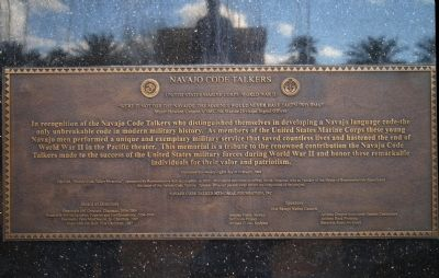 Navajo Code Talkers Memorial Plaque image. Click for full size.
