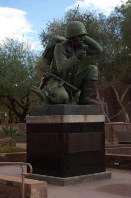 Navajo Code Talkers Statue image. Click for full size.