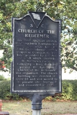 Church of the Redeemer Marker image. Click for full size.