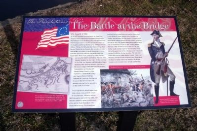 The Battle at the Bridge Marker image. Click for full size.