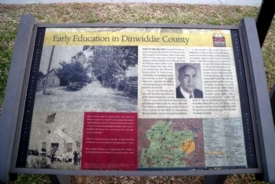 Early Education in Dinwiddie County CRIEHT Marker image. Click for full size.