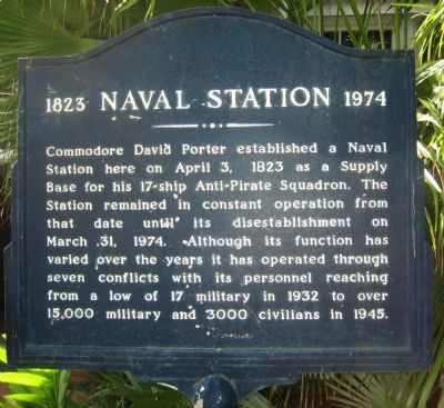 Naval Station Marker image. Click for full size.