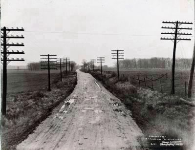 Indiana, looking East, 6.1 miles east of the Illinois State Line, before construction image. Click for full size.