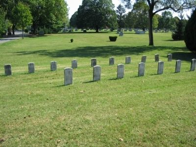 Arkansas Section of the Cemetery image. Click for full size.