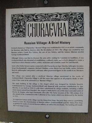 Russian Village Marker image. Click for full size.