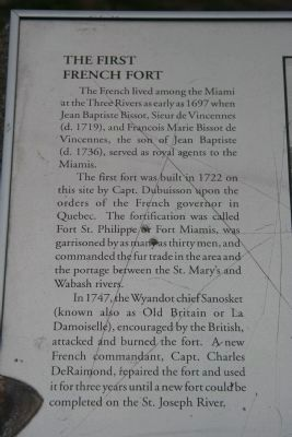 The First French Fort Marker image. Click for full size.