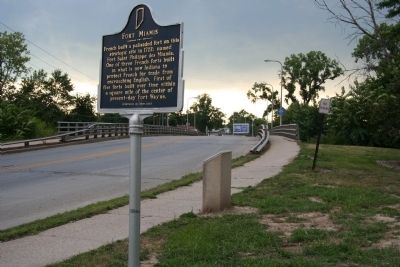 The First French Fort / The First Playground in Fort Wayne Marker image. Click for full size.