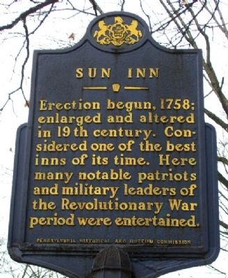 Sun Inn Marker image. Click for full size.