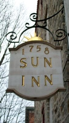 Sun Inn Sign image. Click for full size.