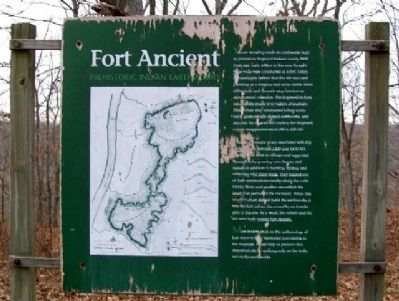 Fort Ancient Prehistoric Indian Earthworks Marker image. Click for full size.