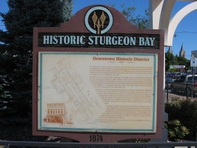 Historic Sturgeon Bay Marker image. Click for full size.