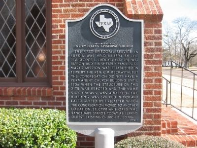 Original site of St. Cyprian's Episcopal Church Marker image. Click for full size.
