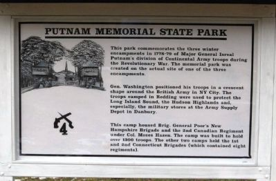 Putnam Memorial State Park Marker image. Click for full size.