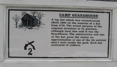 Camp Guardhouse Marker image. Click for full size.