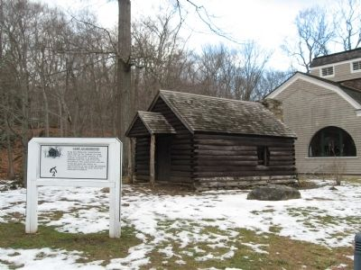 Camp Guardhouse and Marker image. Click for full size.