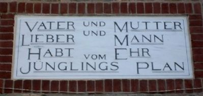 Brethren's House German Text Over Doorway image. Click for full size.