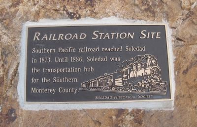 Railroad Station Site Marker image. Click for full size.