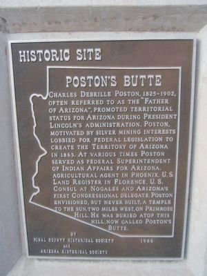 Poston's Butte Marker image. Click for more information.