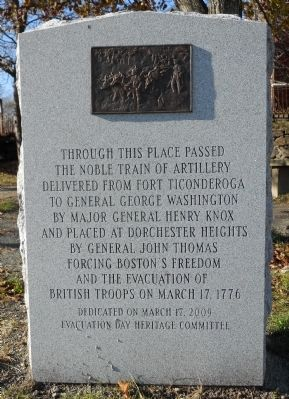 Gen. Henry Knox Trail Marker at Roxbury image. Click for full size.