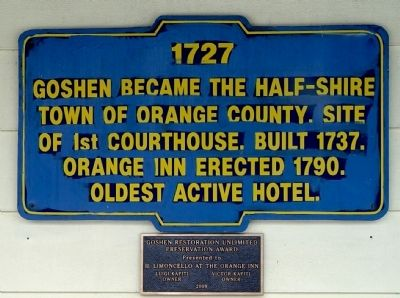 Goshen half-shire town Marker image. Click for full size.