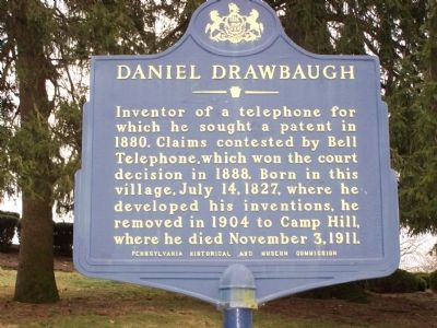 Daniel Drawbaugh Marker image. Click for full size.