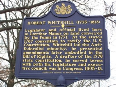 Robert Whitehill (1735 - 1813) Marker image. Click for full size.