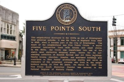 Five Points South Marker image. Click for full size.