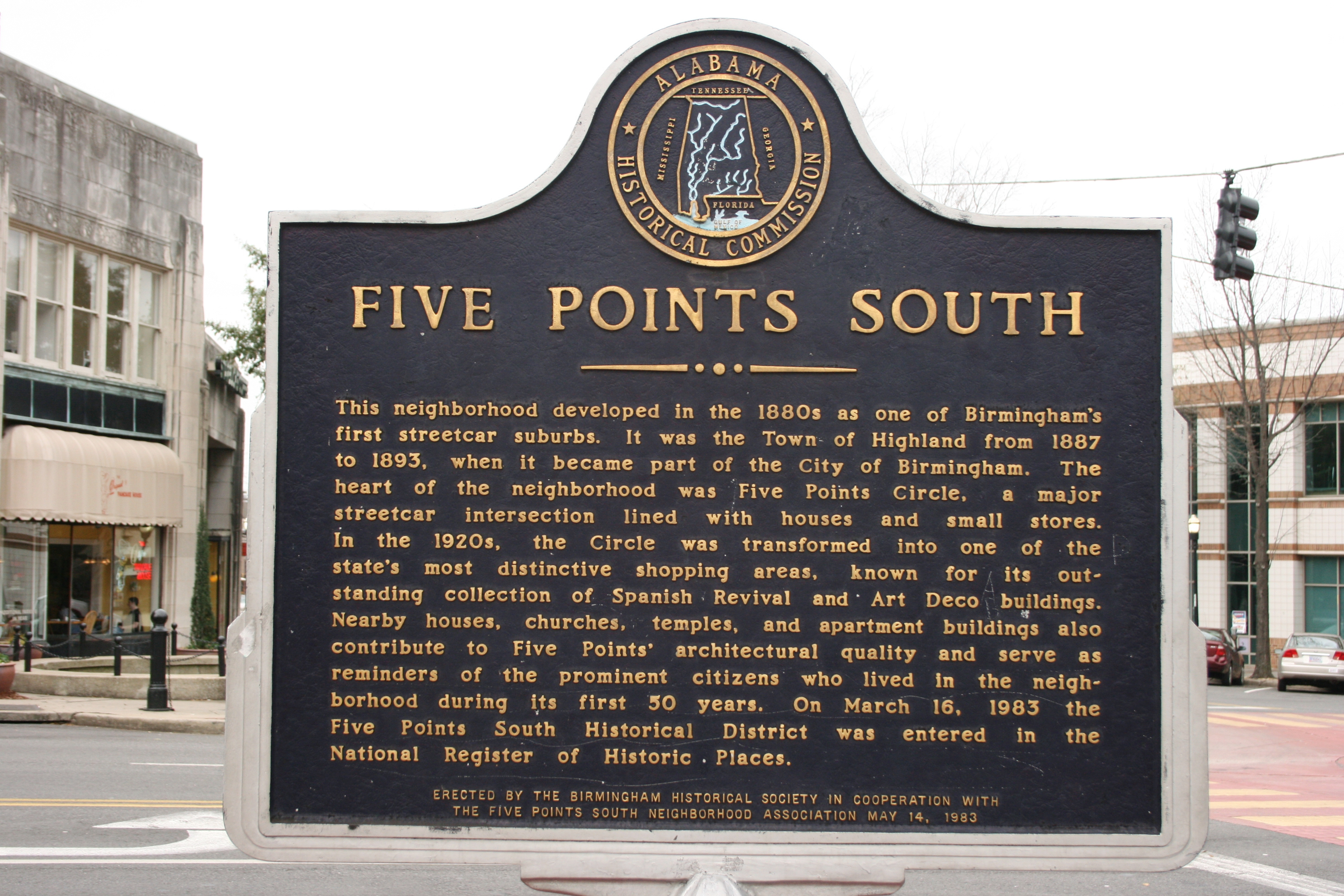 Five Points South Marker