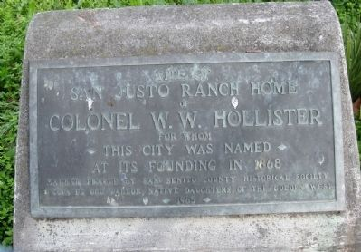 Site of San Justo Ranch Home Marker image. Click for full size.