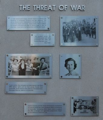 Max Heller Legacy Plaza -<br>The Threat of War image. Click for full size.