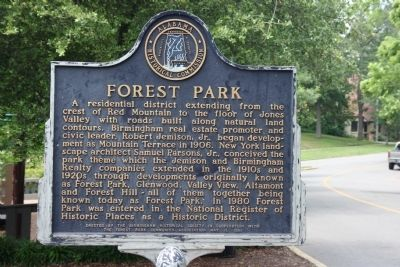 Forest Park Marker image. Click for full size.
