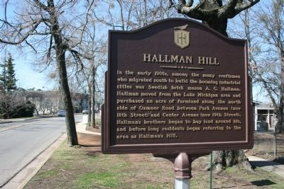 Hallman Hill Marker image. Click for full size.