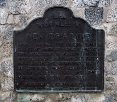 New Idria Mine Marker image. Click for full size.