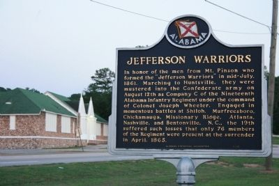 Jefferson Warriors Marker image. Click for full size.