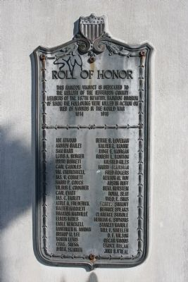 The Roll Of Honor Marker image. Click for full size.