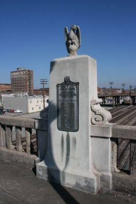 The Roll Of Honor Marker (East Side of Bridge) image. Click for full size.
