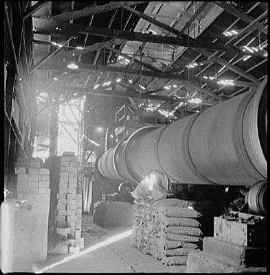 New Idria Mine - Rotary Kiln image. Click for full size.