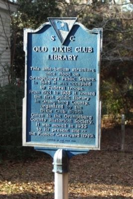 Old Dixie Club Library Marker image. Click for full size.