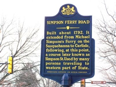 Simpson Ferry Road Marker image. Click for full size.