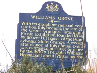 Williams Grove Marker image. Click for full size.