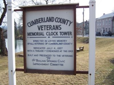 Cumberland County Veterans Memorial Clock Tower Marker image. Click for full size.