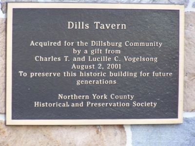 Dills Tavern Plaque image. Click for full size.