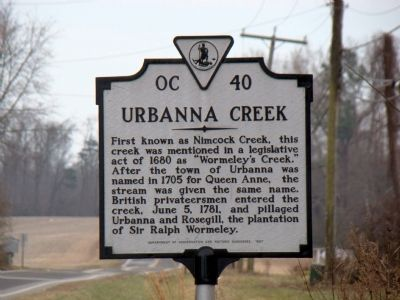 Urbanna Creek Marker image. Click for full size.