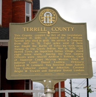 Terrell County Marker image. Click for full size.